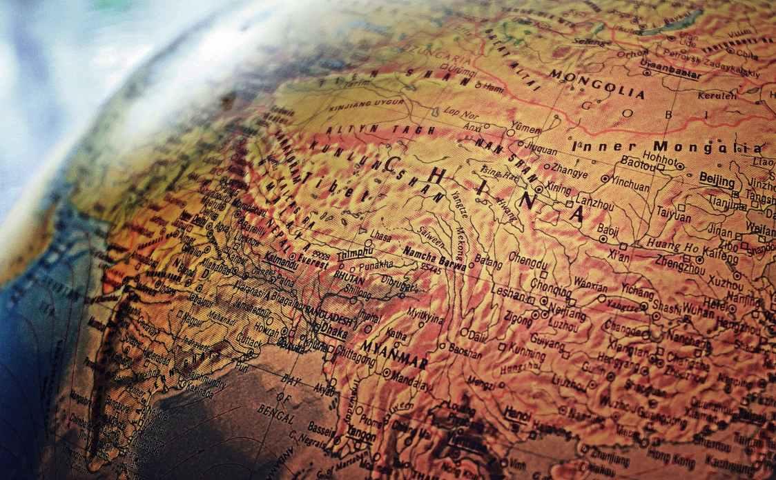 brown world map illustration